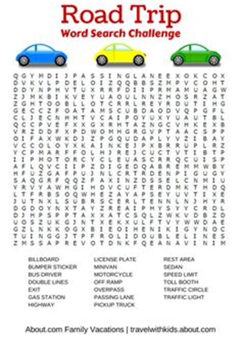 printable word play games 1000 images about free car travel printables on