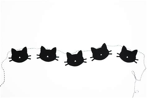 Diy Cat Garland Free Printable Destination Nursery Garland Template