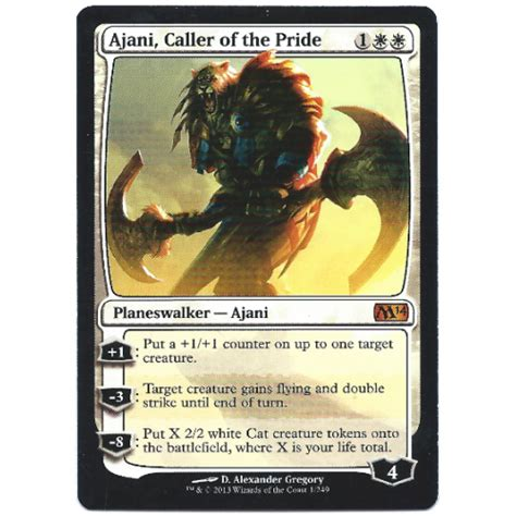 Magic Roaster Fast Respon ajani caller of the pride magic the gathering card m14 mythic