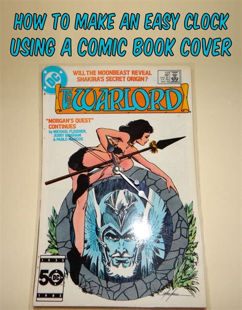 How To Make A Comic Book Out Of Paper - comic book cover clock 183 how to make a book clock 183 home