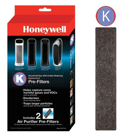 honeywell odor and gas reducing pre filter k 2 pack hrfk2hd the home depot