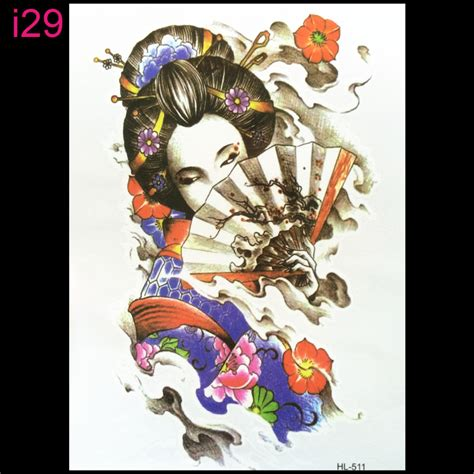 tattoo 3d geisha japan style 3d tattoo temporary tattoo stickers flash
