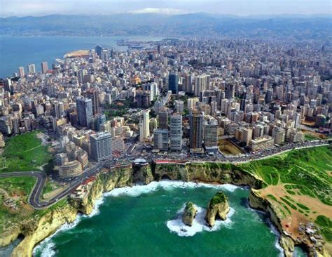 Lebanon Beirut Pigeons Rock Coast Beirut Lebanon Places To See Beautiful My Goals And