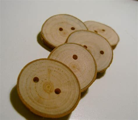 Handmade Wooden Buttons - handmade wooden tree branch buttons on luulla