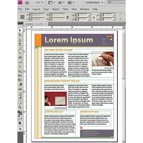 free adobe indesign templates aboutcom desktop publishing