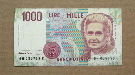 d italia lire mille 1000 italian lire banknote thousand italian lire 1990