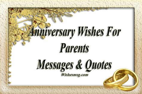 Wedding Anniversary Wishes Quotes For Parents by Anniversary Wishes For Parents Messages Quotes Wishesmsg