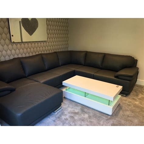 coffee table with led lights amsterdam gloss coffee table with led lights home
