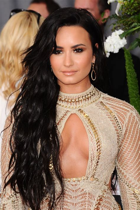demi lovato at 59th annual grammy awards in los angeles 02