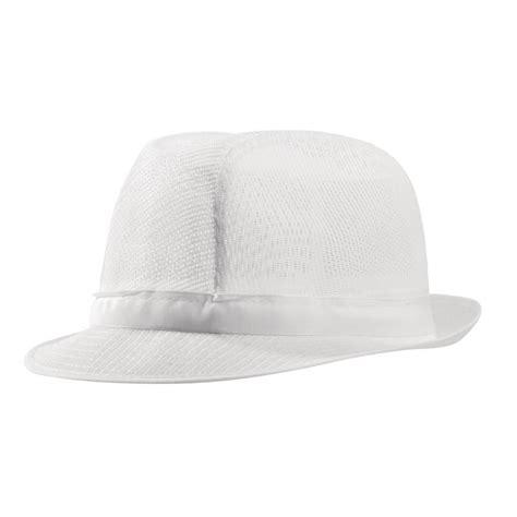 mens trilby hat white lightweight kitchen restaurant