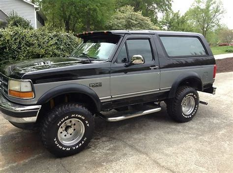 purchase used 1994 ford bronco xlt sport utility 2 door 5 8l in greenville south carolina