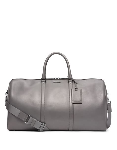 Michael Kors Leather Duffle Bag by Michael Kors Warren Leather Travel Duffel Bag In Gray For