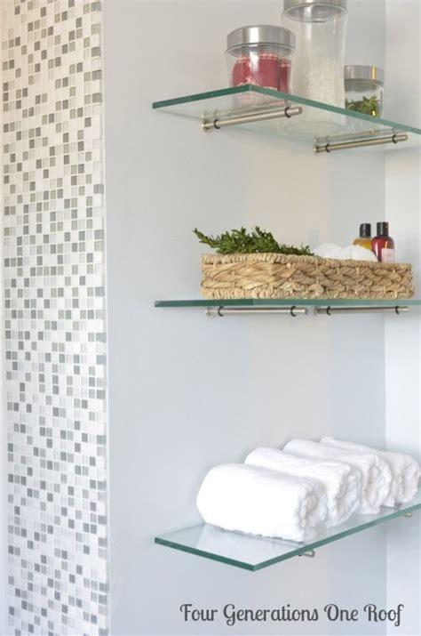 Floating Glass Shelves For Bathroom Best 25 Glass Shelves Ideas On