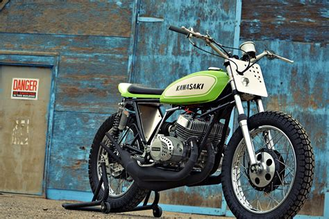 Kawasaki Traker the mach chicken a smokin kawasaki s1 tracker bike exif
