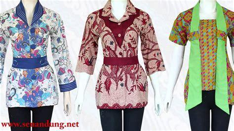 desain kemeja batik wanita terbaru model baju batik wanita modern desain terbaru 2015 youtube