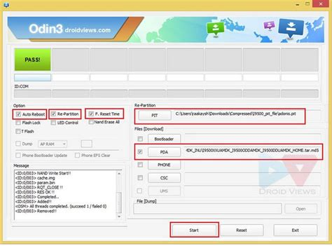 reset samsung using odin fix invalid ext4 image error in odin while installing