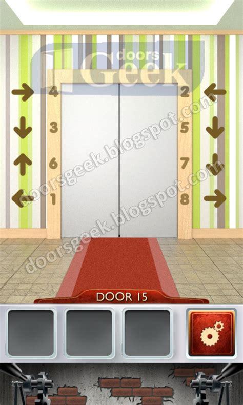 how to solve level 15 on 100 doors and rooms horror escape 100 doors 2 level 15 doors geek