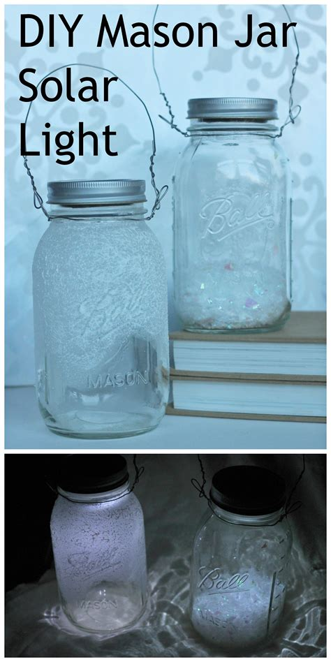 jar solar lights diy jar solar lights tutorial great for winter home decor