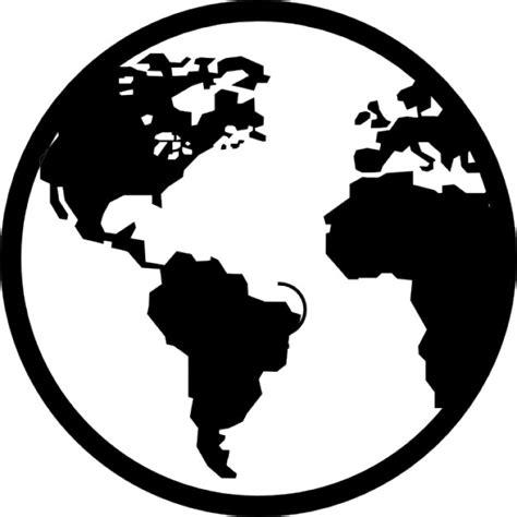 imagenes blanco y negro de la tierra outil de globe terrestre t 233 l 233 charger icons gratuitement