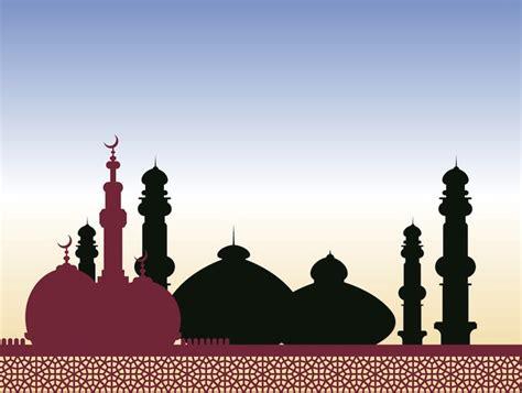 design masjid vector free download islamic religeion arabic architecture vector vector free