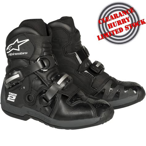 low cut motocross boots alpinestars tech 2 motocross pit bike road dirtbike