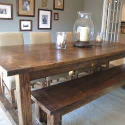 Kitchen Tables With Bench And Chairs Diy Farmhouse Table And Bench Kitchen Tip Junkie