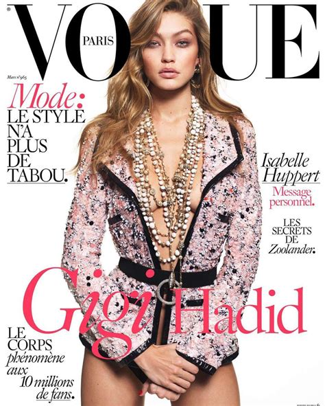 gigi hadid vogue magazine cover march 2016