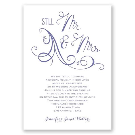 Anniversary Invitations by Still Mr And Mrs Anniversary Invitation Invitations By