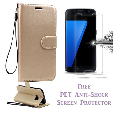 Pet Screen Protector Samsung Galaxy S7 Edge Zilla 3d Transparan galaxy s7 edge card wallet stand free pet anti shock screen protector ebay