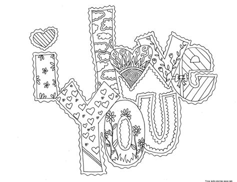 i love you coloring pages to print printable i love you my valentine cards coloring pagesfree