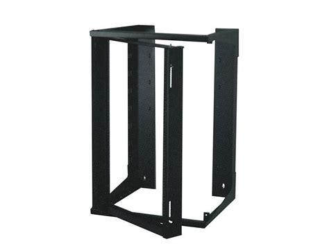 20u Open Wall Mount Frame Rack by 3ft Swing Out Open Frame Wall Rack 24d 20u Black