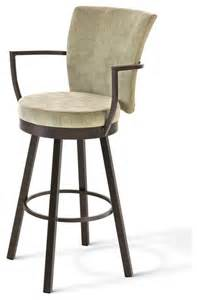 Swivel Bar Stools With Backs And Arms Amisco Cardin Upholstered Back Swivel Stool With Arms