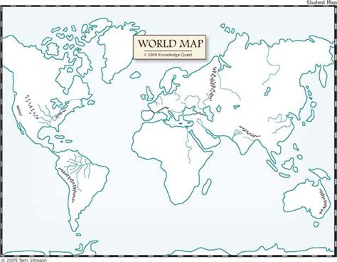 free map of world rivers to printable knowledge quest 2013 map trek ancient world