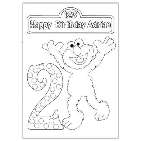 elmo coloring page pdf personalized elmo zoe cookie monster birthday party