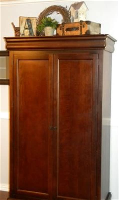 decorating armoire tops how i shall decorate my home on pinterest practical