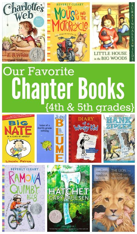 second books favorite chapter books for in 4th and 5th grades