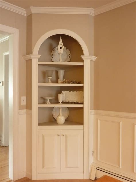 built in corner cabinet dining room a great corner built in unit the color is way too boring