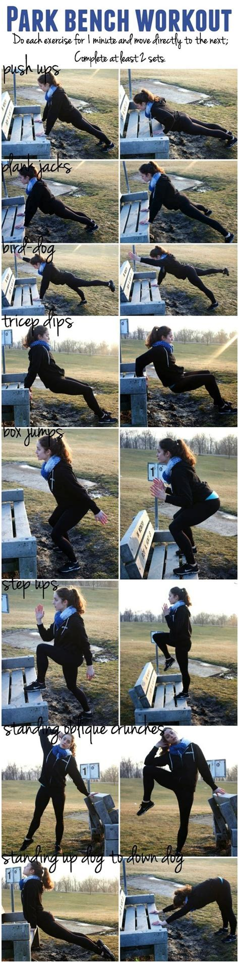 park bench exercises park bench workout body workouts full body and bench
