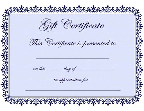 free certificate templates for word free printable gift certificate template word template