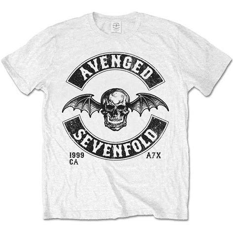 T Shirt Avenged Sevenfold Black avenged sevenfold mens white tshirt moto seal