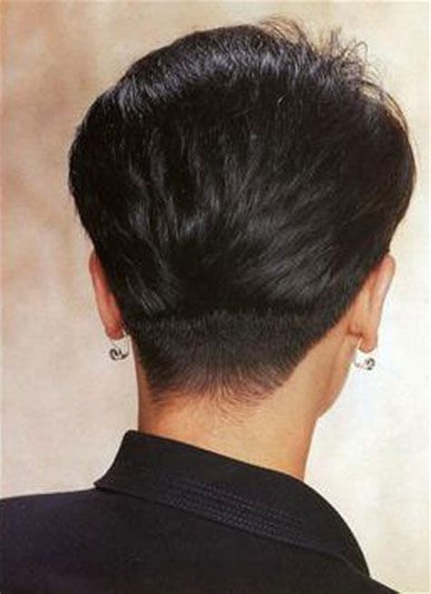back view of womens short hairstyles with clippered back women with buzzed napes hairxstatic short back cropped