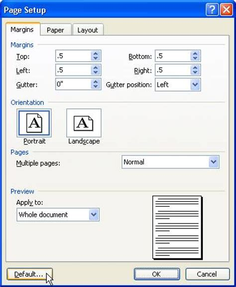 word layout default solid documents blog word tips changing default margins