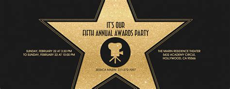 Free Viewing Party Online Invitations Evite Oscar Awards Invitation Template