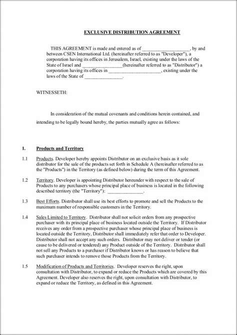 5 Distribution Agreement Sles Templates Sle Templates Licensing And Distribution Agreement Template