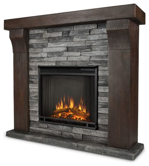 avondale gray ledge electric firebox mantel