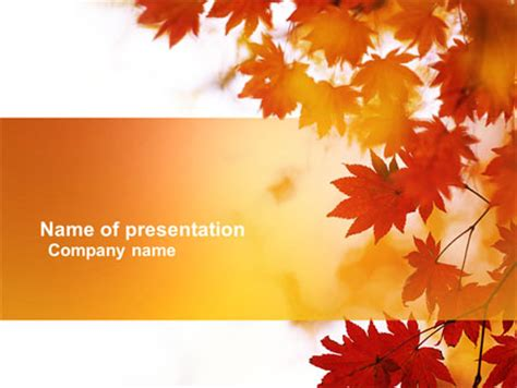 Autumn Season Powerpoint Template Backgrounds 03898 Poweredtemplate Com Autumn Powerpoint Background
