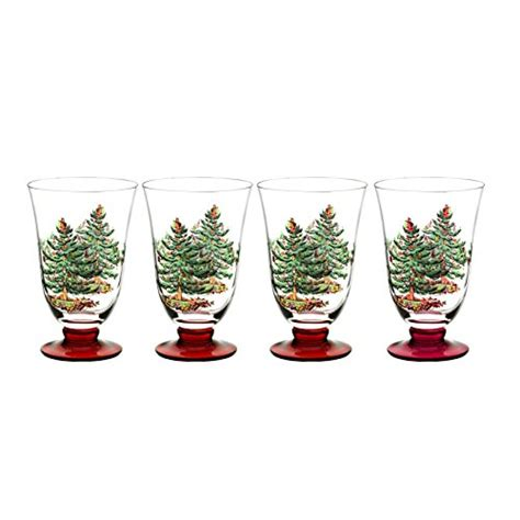 purpose of christmas tree galleon spode tree glass footed all purpose glasses with stem set of 4 18 ounce