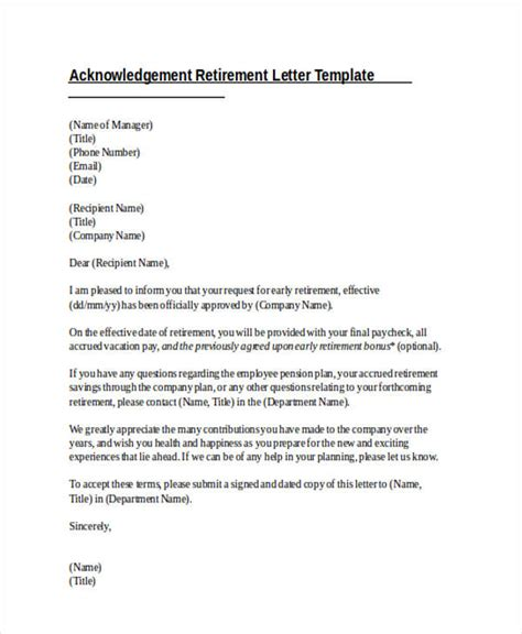 Acknowledgement Letter For Maternity Leave 41 acknowledgement letter exles sles doc