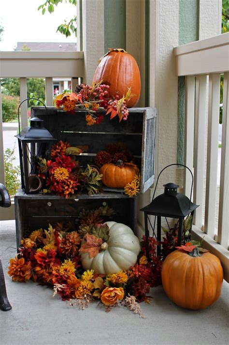 how to make fall decorations at home 85 pretty autumn porch d 233 cor ideas digsdigs