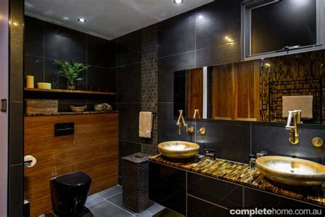 tiger bathroom designs black and gold luxury bathroom completehome